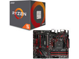 AMD Ryzen 5 2600 BOX品 + MSI B450 GAMING PLUS セット