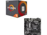 AMD Ryzen 5 2600 BOX品 + ASRock B450M Pro4 セット