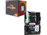 AMD Ryzen 5 2600 BOX品 + ASRock B450 Steel Legend セット