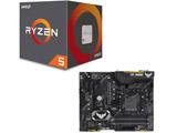 AMD Ryzen 5 2600 BOX品 + ASUS TUF X470-PLUS GAMING セット