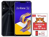 Zenfone 5Z Series シャイニーブラック「ZS620KLBK128S6」+ Y!mobile音声パッケージセット