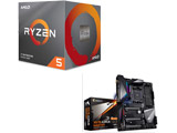 Ryzen 5 3600X BOX品 + X570 AORUS MASTER セット