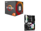 AMD Ryzen 7 2700 BOX品 + ASRock B450 Steel Legend セット