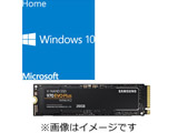 DSP版 Windows 10 Home 64bit (新規インストール用) + SAMSUNG SSD 970 EVO Plus MZ-V7S250B/IT (SSD/M.2 2280/250GB)
