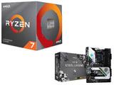 AMD Ryzen 7 3700X BOX品 + ASRock X570 Steel Legend  セット