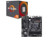 AMD Ryzen 5 2600 BOX品 + GIGABYTE B450 AORUS M セット