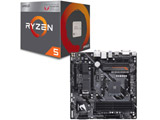 AMD Ryzen 5 2400G BOX品 + GIGABYTE B450 AORUS M セット