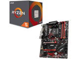 AMD Ryzen 5 2600 BOX品 +  MSI B450 GAMING PLUS MAX セット