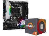AMD Ryzen 5 2600 BOX品 + ASRock B450M Steel Legend セット
