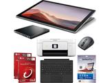 【新生活応援】Surface Pro7 セット_PCソフト2本_ブルーレイドライブ_プリンタ