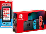 Nintendo Switch Joy-Con(L) ネオンブルー/(R) ネオンレッド [2019年8月モデル] [HAD-S-KABAA] [ゲーム機本体] + 全損保証サービス付きクリアケースセット