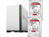 【数量限定セット】 WD Red WD80EFAX[8TB] ×2個 + SYNOLOGY NASキット DiskStation DS220j