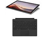 Surface Pro 7 プラチナ VDH-00012[Core i3・12.3インチ・最新Office付き・SSD 128GB・メモリ 4GB]+タイプカバー ブラック FMM-00019