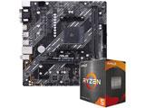 Ryzen 5 5600X[CPUクーラー付属]+PRIME A520M-E