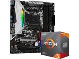 Ryzen 5 3600 BOX品+B450M Steel Legend