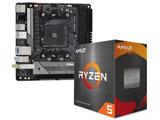 Ryzen 5 5600X[CPUクーラー付属] + ASRock B550M-ITX/ac