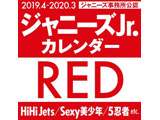 ジャニーズJr. カレンダー RED 2019.4 → 2020.3