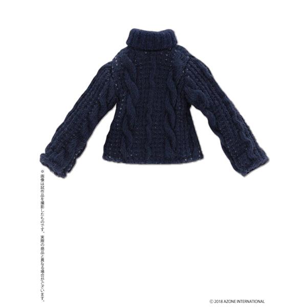 ピコニーモ用ウェア 1/12 フィッシャーマンズハイネックセーター ネイビー ドールウェア