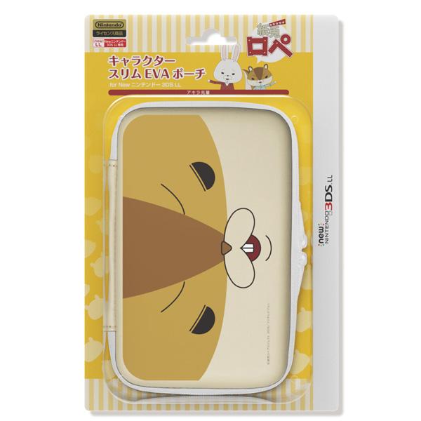【在庫限り】 紙兎ロペ キャラクタースリムEVAポーチ for new Nintendo 3DS LL アキラ先輩【New3DS LL/3DS LL】 [ILXNL114]_1