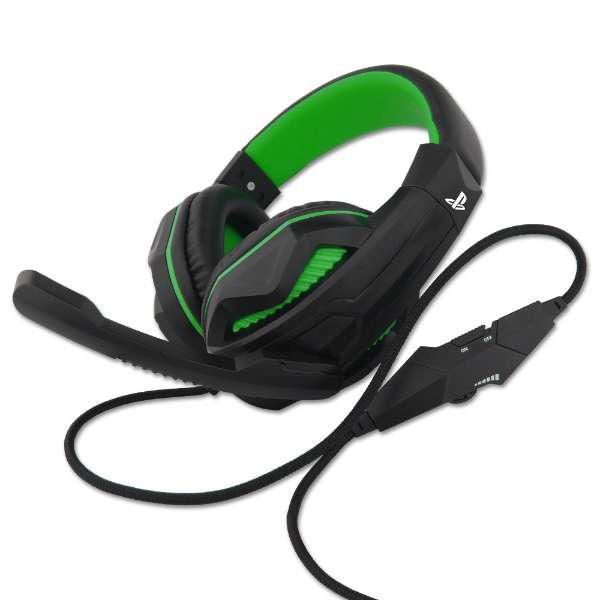 【在庫限り】 PS4用ゲーミングヘッドセット Green [BKS-4P270] 【ビックカメラグループオリジナル】_1