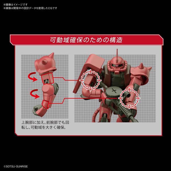 HGUC 1/144 シャア専用ザクII【機動戦士ガンダム】_5