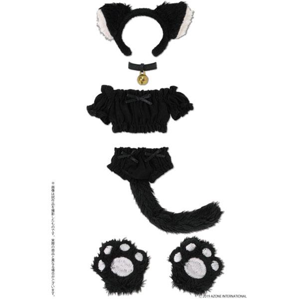 1/6 ピュアニーモ用ウェア PNS ふわくしゅにゃんこセット ブラック ドールウェア