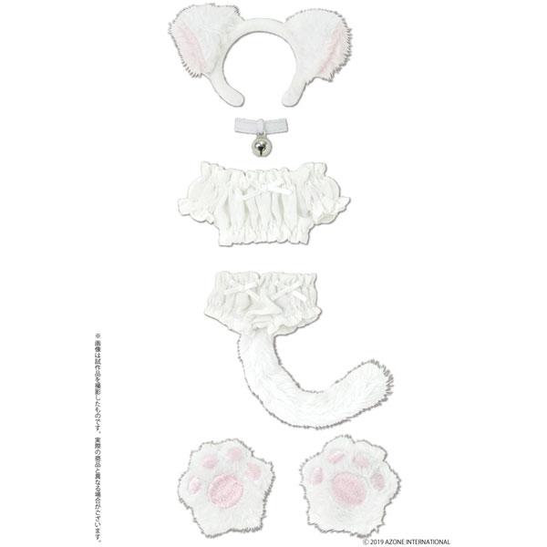 1/6 ピュアニーモ用ウェア PNS ふわくしゅにゃんこセット ホワイト ドールウェア