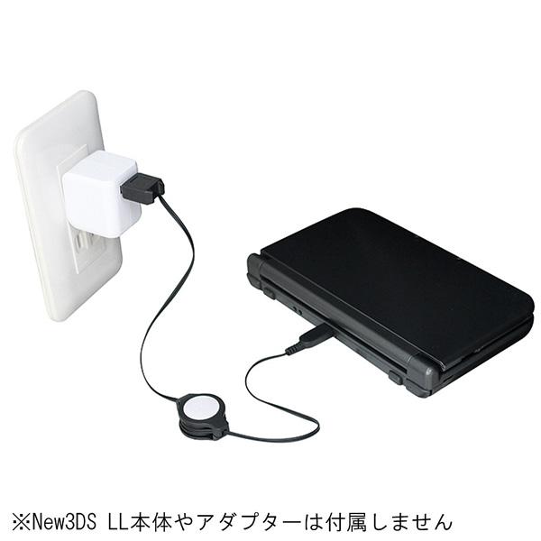 New 3DS LL用充電USBケーブル ブラック (new3DS/new3DSLL/3DS/3DSLL/DSi/DSiLL対応) [BKS-N3DJUK] 【ビックカメラグループオリジナル】_3