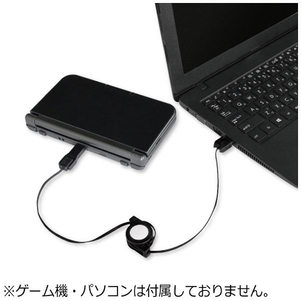 【在庫限り】 new3DS/PSV/スマホ用 3WAY充電USBケーブル ブラック 【New3DS/PSV(PCH-2000)】 [BKS-3WRUK] 【ビックカメラグループオリジナル】_3
