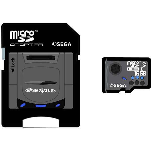 【在庫限り】 セガサターンmicroSDHCカード(16GB)+SDアダプターセット [STFW103-SA]_2