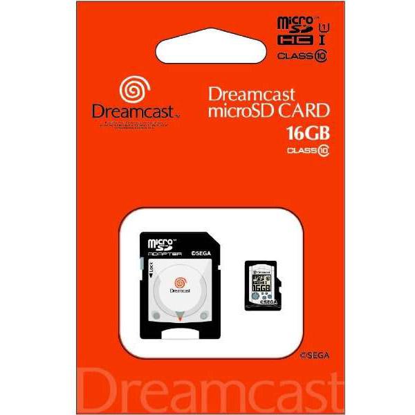 【在庫限り】 ドリームキャスト microSDHCカード(16GB)+SDアダプターセット [STFW102-DC]