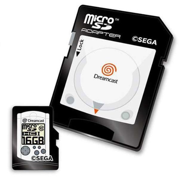 【在庫限り】 ドリームキャスト microSDHCカード(16GB)+SDアダプターセット [STFW102-DC]_1