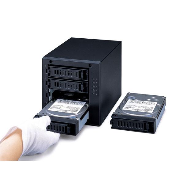 HD-QL8TU3/R5J  外付HDD [USB3.0・8TB] 4ドライブモデル/RAID 5対応_5