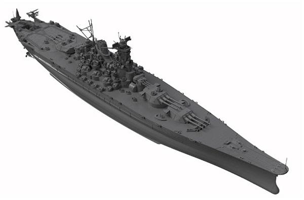 1/700 日本海軍 戦艦 大和 最終時 プラモデル_5
