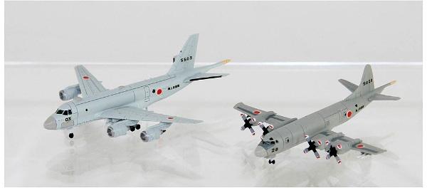 1/700 海上自衛隊 哨戒機セット(P-1、P-3C哨戒機各2機入り) プラモデル