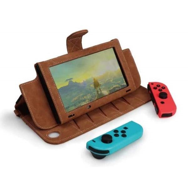 Nintendo Switch用OJO Explorerレザーケース ブラウン [CAE01-1]