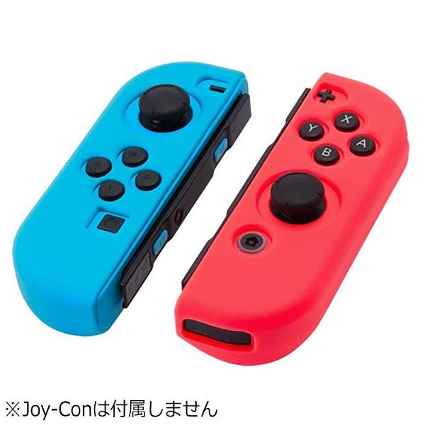 CYBER・シリコングリップカバー(SWITCH Joy-Con用) セット:ブルー×レッド [Switch] [CY-NSJCGC-BLRE]_2