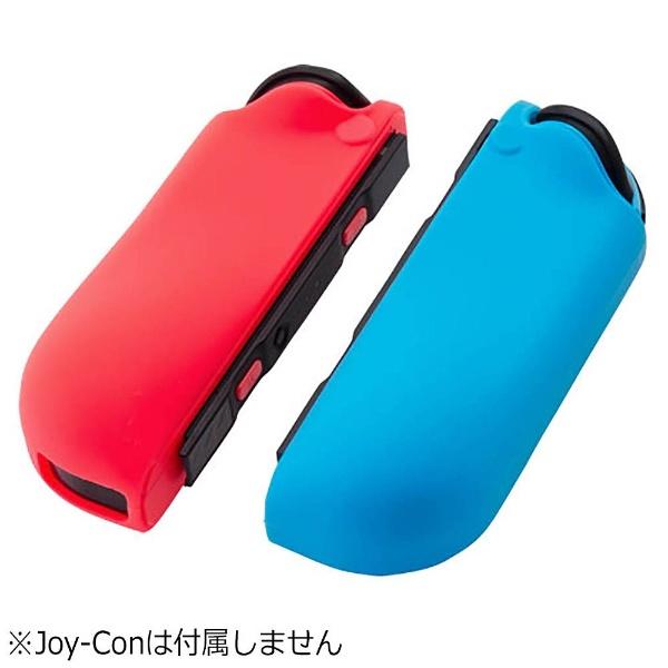 CYBER・シリコングリップカバー(SWITCH Joy-Con用) セット:ブルー×レッド [Switch] [CY-NSJCGC-BLRE]_3