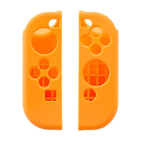 【在庫限り】 CYBER・シリコングリップカバー セット(SWITCH Joy-Con用) オレンジ CY-NSJCGC-OR[Switch] [CY-NSJCGC-OR]_1