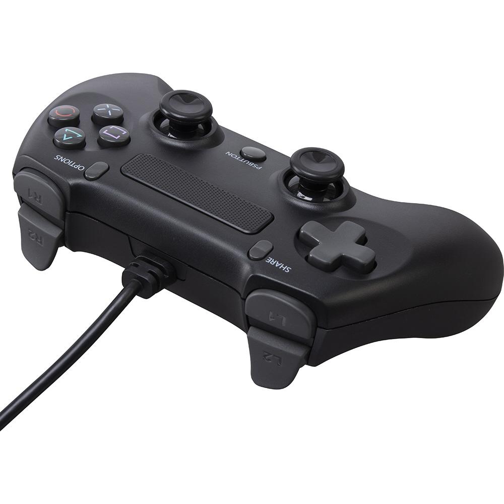 PS4/SWITCH用 ワイヤードコントローラーライト ブラック CY-NSP4WCL-BK_1