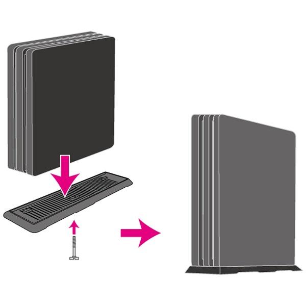 PS4Pro用 縦置きスタンドプロ (CUH-7000) [PS4] [BKS-ANSPF005] 【ビックカメラグループオリジナル】_2