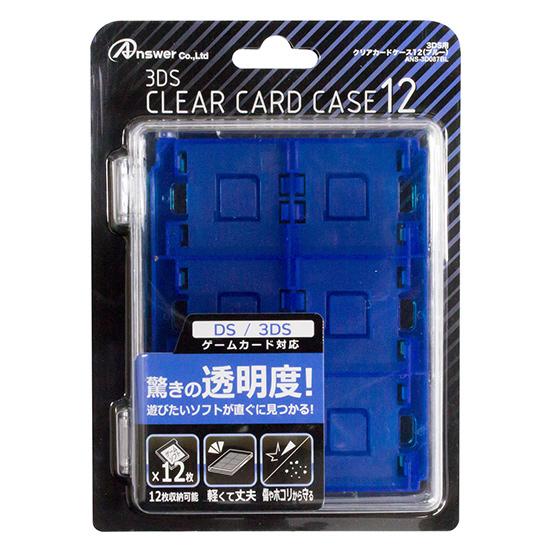 3DS用 クリアカードケース12 ブルー ANS-3D087BL ANS-3D087BL