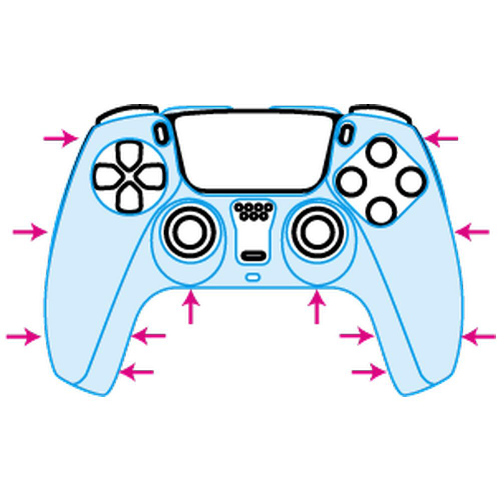 PS5コントローラ用 クリアプロテクト(クリア) ANS-PSV002CL_3