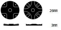 PS5コントローラ用 プレイアップボタンセット ブラック ANS-PSV003BK_3