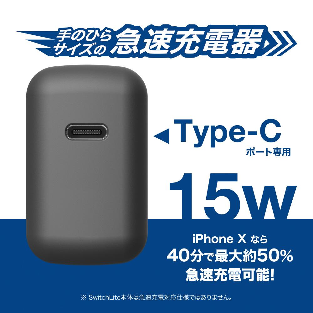 SwitchLite用 USB-C 充電器セット グレー BKS-NSL009  グレー BKS-NSL009_4