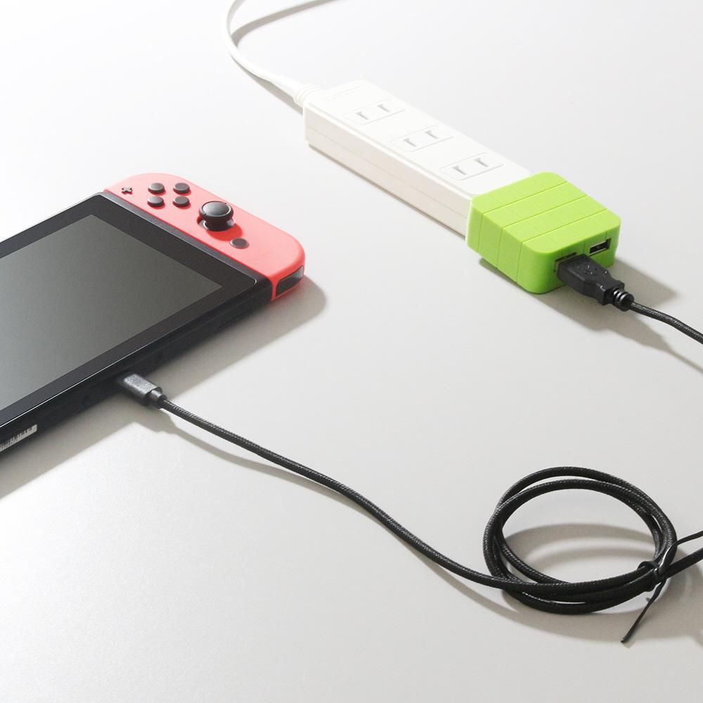 【在庫限り】 Switch用Type-C充電ケーブル 0.8m [Switch] [BKS-NSTC80] 【ビックカメラグループオリジナル】_7