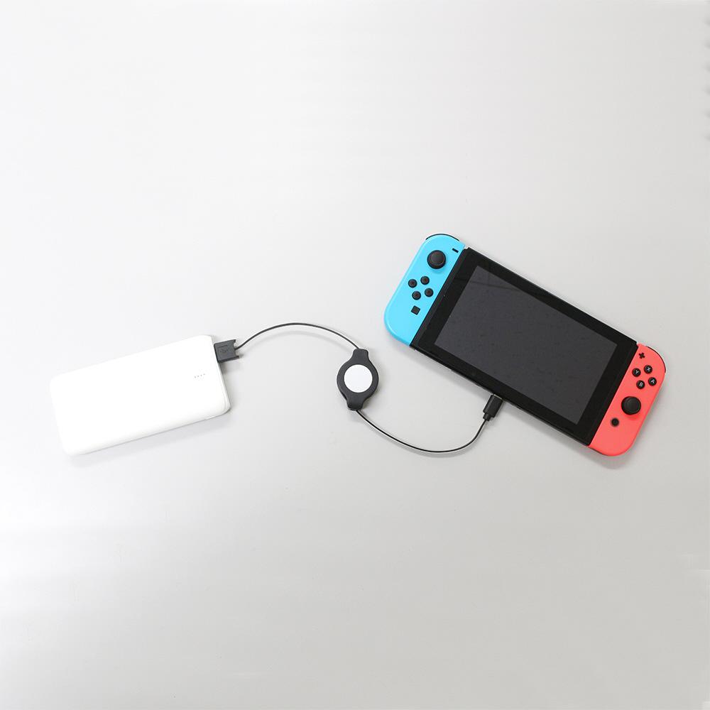 Switch用長い巻き取りUSB充電ケーブル 100cm [Switch] [BKS-NSMC1M] 【ビックカメラグループオリジナル】_9