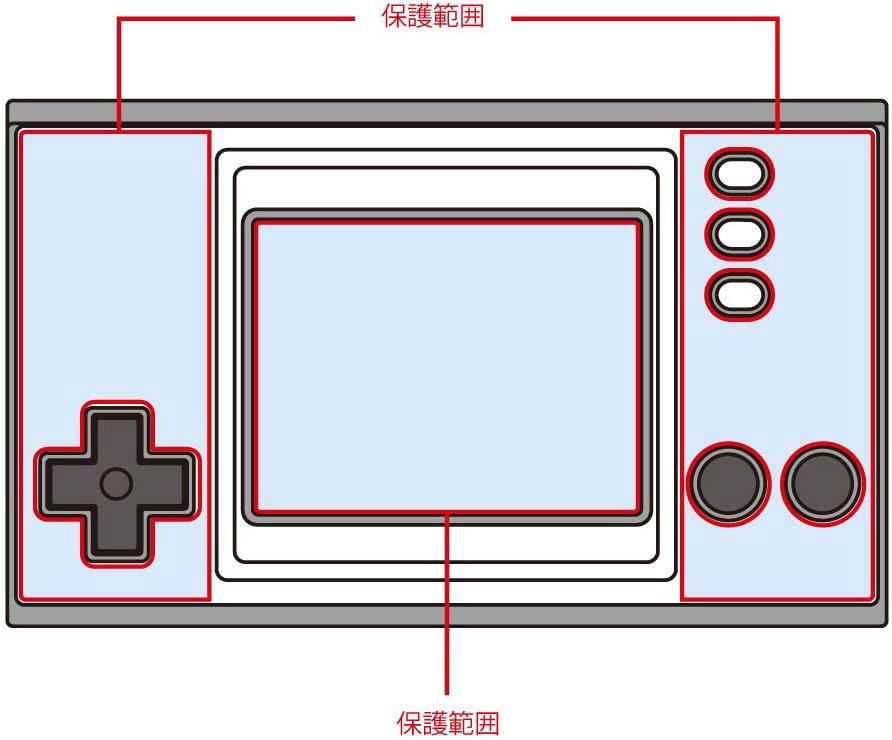 全体保護フィルム極(GAME&WATCH SUPERMARIOBROS.用) CC-GWZKF-CL_1