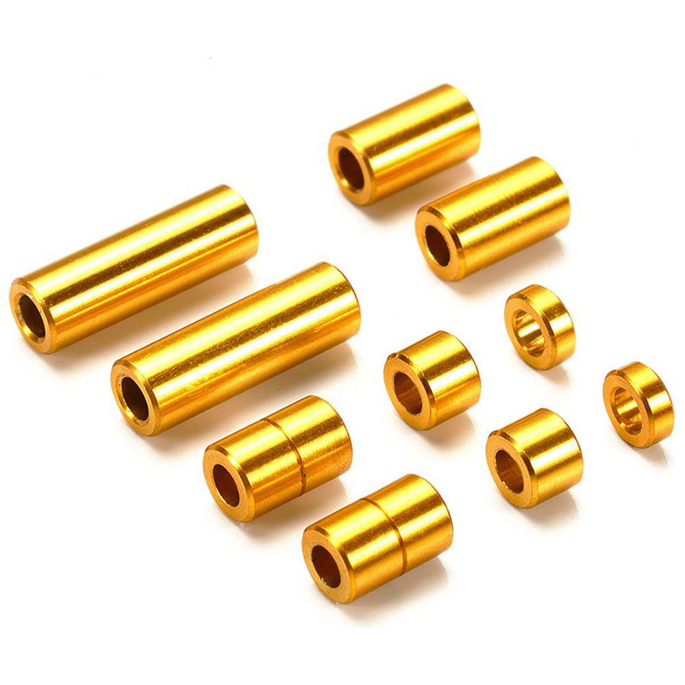 【ミニ四駆】ミニ四駆特別企画 アルミスペーサーセット(12/6.7/6/3/1.5mm各2個)(ゴールド)