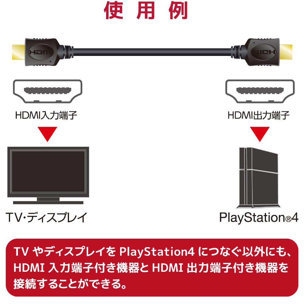 エレコム イーサネット対応HIGHSPEED HDMIケーブル 【PS4/PS3/XboxOne/Xbox360/Wii U】 [GM-DHHD14ER20BK]_6